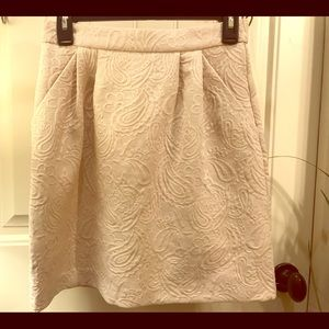 H&M Classic Ivory Paisley Printed Skirt Size 4